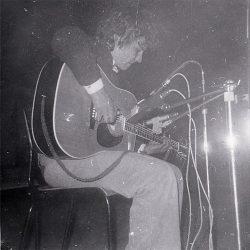 Folkclub in Gent, Belgien, 1974